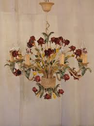 inspiration about l205s large 8 arm vintage italian painted toleware chandelier regarding vintage italian chandeliers