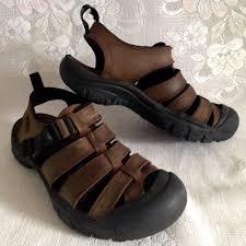 details about keen jamestown nubuck leather brown waterproof sandals womens 9 eu 39 5 euc