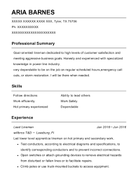 Best Apprentice Lineman Equipment Operator Resumes Resumehelp Resume