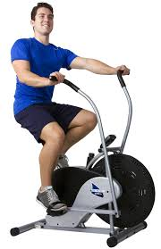 fan exercise bike. body rider fan bike with man working out exercise e