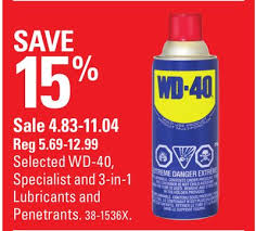 selected wd 40 specialist and 3 in 1 lubricants and penetrants