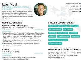 One Page Resume Best Elon Musk's Onepage Resume Get Inspired To Redesign Your Own CV To