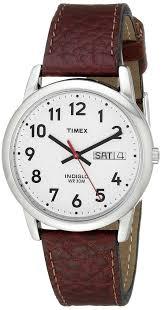 amazon com timex men s t20041 easy reader brown leather strap amazon com timex men s t20041 easy reader brown leather strap watch classic watches