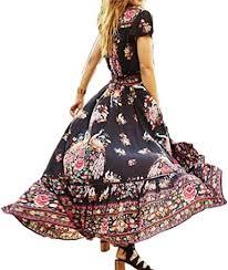 <b>hirigin</b> Women Boho Maxi Dress V Neck Floral <b>Print</b> Ethnic Party ...