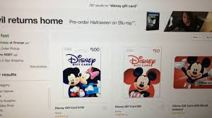 use target red card to purchase disney gift cards at 5 apply towards food or p entry