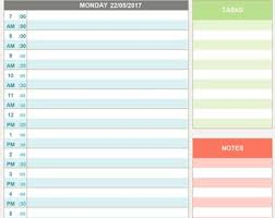 Day Planner Hourly Hourly Weekly Planner Printable Editable Daily Hourly Etsy