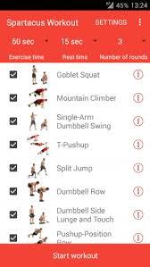 obejrzyj zrzuty ekranu programu ico spartacus workout