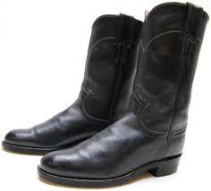 womens justin l 3057 navy blue leather roper cowboy western boots sz 5 5 1 2 b