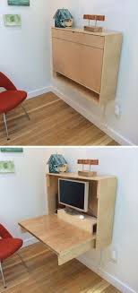16 wall desk ideas that are great for small spaces if you re feeling ambitious you can also make your own custom fold up wall desk like this one to make