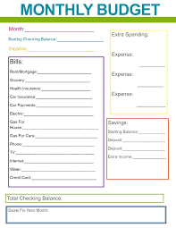 Sample Household Budget Enchanting Household Budget Spreadsheet Template Simple Monthly Planner Free