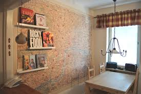 image of cork wall tiles dining