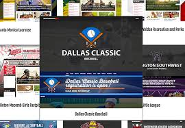 Baseball Websites Templates Free Sports Team Website Builder League Website Templates