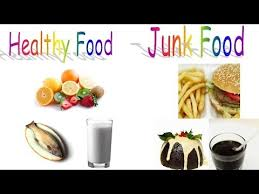 Healthy Vs Unhealthy Food Chart Healthy Food And Junk Food For Preschool Children And Kindergarten Kids