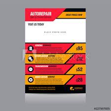 Auto Repair Flyer Auto Repair Shop Flyer Layout Vector Illustration Buy