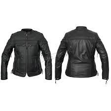 interstate leather women s black moxie leather jacket i5374s