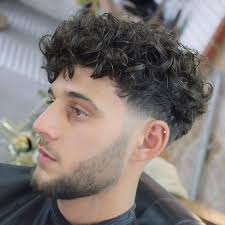 Big Forehead Curly Hairstyles Male Short Curly Hair