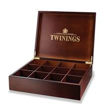 twinings 12 compartment wooden display box empty