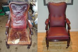 regency chair restoration with re leathering upholstery