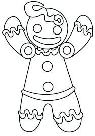 Gingerbread Man Pictures To Print Ginger Bread Man Coloring Page