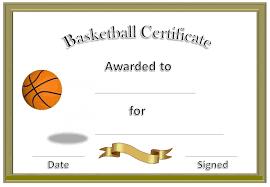 Basketball Award Certificate To Print Blank Certificate Templates