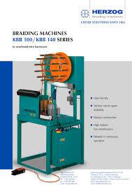 wiring harness braiding machine kbb 100 herzog wiring harness braiding machine kbb 100 1 2 pages