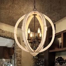 distressed white wooden globe chandelier black metal candelabra ceiling pendant