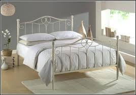 Bedroom Ideas Wrought Iron Bed Frame Decorating White Winning ...