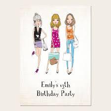 13th Party Invitations Teen Birthday Invitations 13th Birthday Teen Fashion