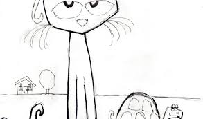 Small Picture Pete The Cat Coloring Page Coloring Pages
