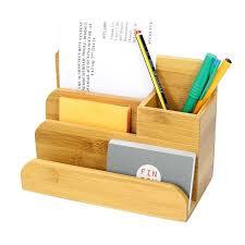 bamboo desk organiser this wooden