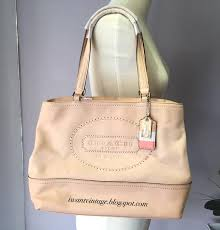 Coach 19391 New Hamptons Weekend Leather Perforated Medium Tote