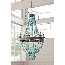 regina andrew beaded turquoise chandelier