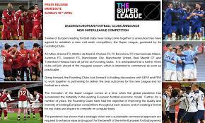 English football's Big Six to declare plan to join European Super League  TONIGHT
