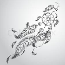 Native Dream Catchers Drawings Dreamcatcher feathers and beads Native american indian dream 44