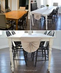 a shabby chic farmhouse table with diy chalk paint from wooden dining table and chairs refinishing source thediymommy com