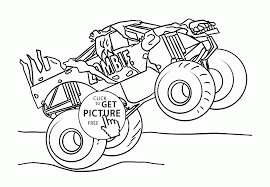 Monster Truck Coloring Pages For Kids With Grave Digger Monster