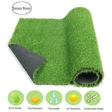 ecomatrix fake grass rug artificial carpet indoor outdoor green lawn mats turf for