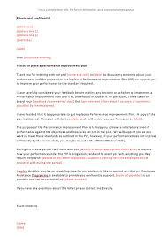 Employee Performance Letter Sample Job Improvement Letter Sample Decent Performance