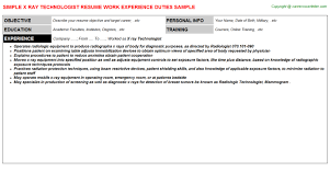 X Ray Technologist: Free Career Templates Downloads | Job Titles ...