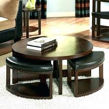 coffee table with nesting stools coffee table with chairs underneath round coffee table set round coffee