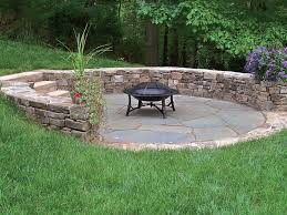 fieldstone seat wall with stone slab steps and bluestone patio flagstone patios s65 flagstone