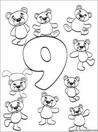 Nummer 9 Kleurplaat Cijfer 9 Negen Gratis Kleurplaten
