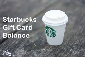 how to check starbucks gift card