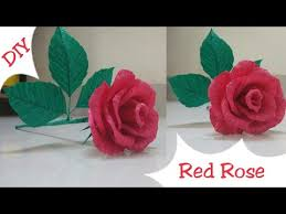 Red Paper Flower Diy Red Rose Making Rose Crepe Paper Flowers Rome Decor Ideas Rose Valentines Day Gift Idea