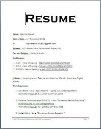 Resume Format For Students Gorgeous Format For Resume F Resume Within Simple Student Resume Format