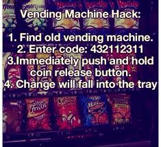 How To Get Free Snacks From A Vending Machine Code