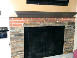 reface brick fireplace refacing fireplace with stone veneer refacing a brick fireplace with stone veneer fireplace basement resurface fireplace refacing
