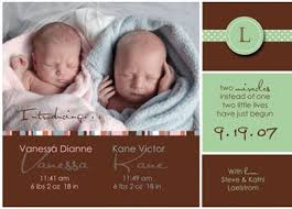 twin birth announcements photo cards six adorable baby birth announcements