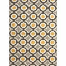 gray and yellow area rug rugs hand tufted geometric pattern polyester benson