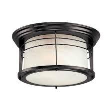 Westinghouse Senecaville Light Weathered Bronze Outdoor - Flush mount exterior light fixtures